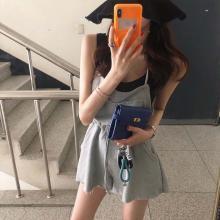 NewmanCity韓國東大門新款 時尚休閑女士背帶褲2019夏季新款BDAI05
