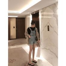 NewmanCity減齡網紅背帶褲女2019新款夏季顯瘦韓版高腰BDAI18