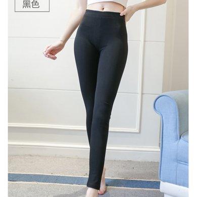 绮娑  春季新款韩版修身显瘦高腰弹力九分小脚裤女打底裤