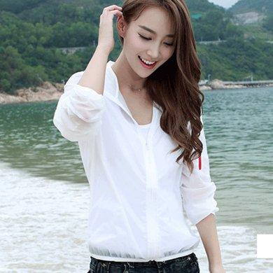 億族 春夏裝新款短款外套防紫外線女裝超薄大碼長袖防曬衣防曬服衫