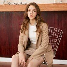 BANANA BABY新款字母刺绣外套女长袖韩版西装外套女D73W078