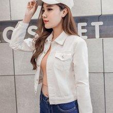 妙芙琳 2018秋季新款牛仔外套女韩版长袖牛仔衣短款女