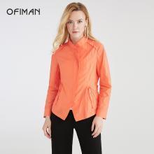 Ofiman奧菲曼2018秋季新品女裝時尚修身顯瘦防曬衣短款外套風衣女A1-S7055-3S