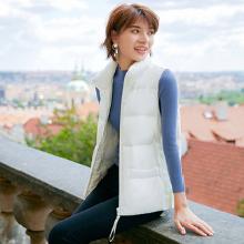 德玛纳2018冬季新款白色短款羽绒服马甲女韩版宽松无袖背心外套