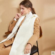 德玛纳新款轻薄型羽绒服马甲女中长款2018秋冬季白鹅绒保暖外套
