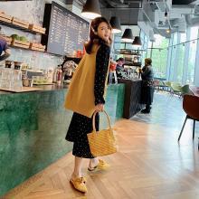 DOWISI马甲针织衫2019春新款韩版背心无袖不规则V领打底衫毛衣女F5786(清仓特价)