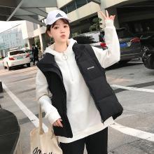 亿族 棉马甲女秋冬装新款韩版加厚立领背心棉服外套时尚马夹潮