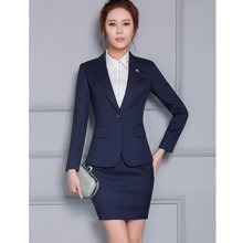 亿族 2018春夏装新款时尚商务修身长袖西服职业装套裙西装正装 YZA813