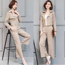 亿族 2018四季新款时尚气质修身显瘦职业装女西装西裤套装 S2315