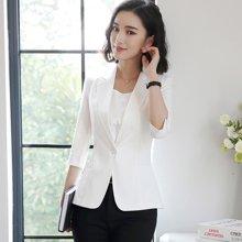 億族 春夏裝新款百搭純色七分袖西服外套商務正裝修身職業裝小西裝