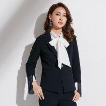 姝奕2018秋季新款品牌女装韩版修身显瘦女士外套长袖一粒扣小西装女QBZ88250