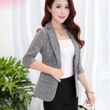億族 春秋裝新款小西裝女士短款外套氣質七分袖修身西服