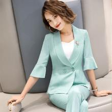 妙芙琳 2019春夏季短款小个子西装外套女显瘦韩版荷叶边西装女