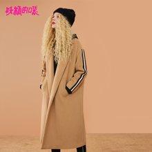 妖精的口袋Y呢子大衣冬装2018新款长袖冬季韩版宽松毛呢外套女R