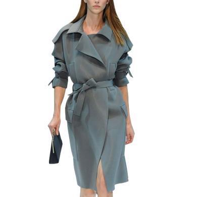 tobebery修身气质女中长款风衣2019秋冬装新款时尚小个子外套女欧美