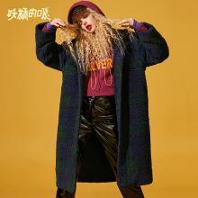 妖精的口袋Y毛呢大衣冬装2018新款韩版长袖通勤长款呢子外套女R