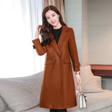 億族 秋冬裝新款韓版女裝毛呢外套女顯瘦修身中長款毛呢子大衣