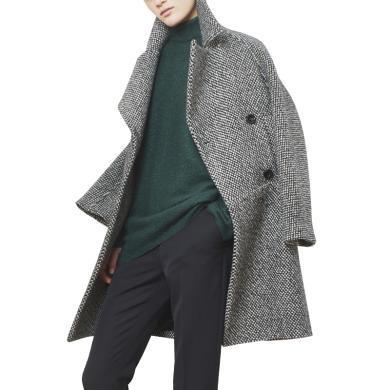 tobebery呢子大衣女中長款2018秋冬新款女裝歐洲站格子外套冬裝