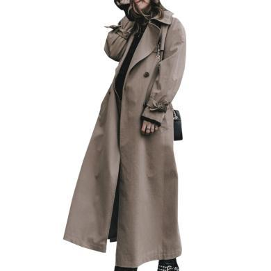 tobebery風衣女中長款韓版秋季2019新款氣質過膝超長外套薄款風衣