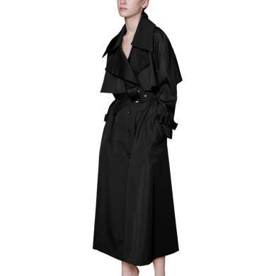 tobebery秋季新款風衣中長款2019過膝薄款寬松顯瘦外套氣質時尚潮