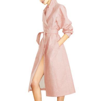 tobebery風衣女中長款2019早秋裝新款過膝長袖氣質顯瘦薄款外套