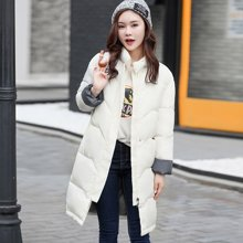 亿族 冬装新款韩版立领棉服学生宽松中长款面包服棉衣外套