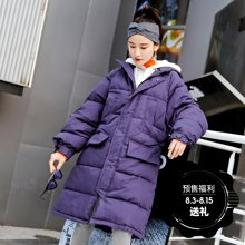 新品 七格格 棉袄女2018新款冬季韩版宽松学生反季工装棉服女中长款加厚