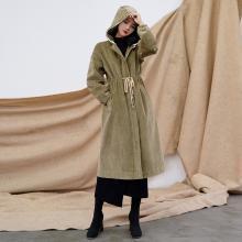 芃拉冬装新款棉衣女中长款冬装外套棉服加厚时尚韩版修身百搭女装JQ181068