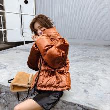 热嘉冬外套chic羽绒棉服oversize棉袄2018新款潮ins面包服女短款蓬蓬52096