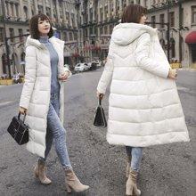 亿族 冬季新款200斤修身显瘦加厚长款防寒服外套女大码女装