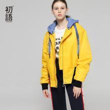 初语棉袄女2018秋冬装新款韩版学生棉衣小清新休闲短款棉服外套8830842406