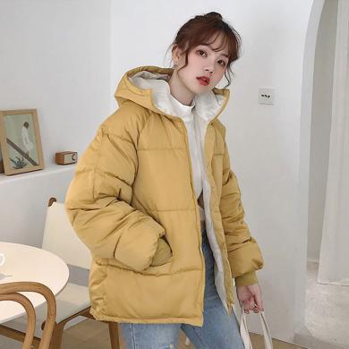 綺娑 棉衣女冬季新款韓版休閑短款面包服時尚百搭棉服外套