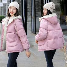 亿族 短款棉服女冬季新款韩版个性连帽宽?#19978;?#30246;棉衣外套大口袋面包服
