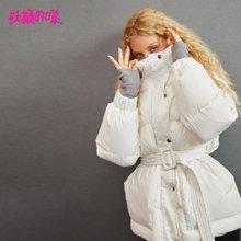 妖精的口袋Y韩版上衣冬装2018新款白色连帽保暖白鸭绒羽绒服女潮R