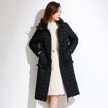 姝奕冬季新款品牌女装中长款外套立领过膝轻薄保暖白鸭绒羽绒服女QBZ88470