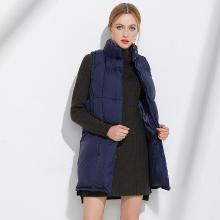 億族 羽絨馬甲冬季新款大碼女裝羽絨服女中長款胖MM棉衣馬夾保暖外套