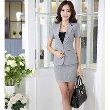亿族 2018春夏装新款职业套装两件套OL包臀裙显瘦女装 8023YZ