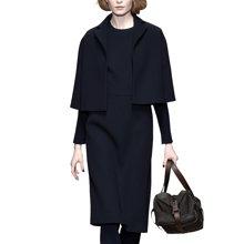 tobebery2018秋冬新款女欧洲站呢子斗篷两件套毛呢套装裙显瘦冬季