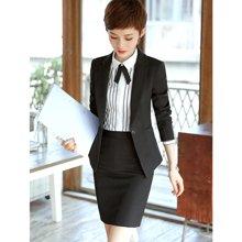 亿族 春夏装新款长袖商务OL通勤白领美容师酒店工作服正装女装职业装套装裙