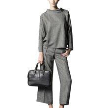 tobebery两件套女2018秋季新款休闲阔腿裤套装冬款职业套装女