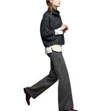 tobebery针织阔腿裤女秋冬套装2018新款欧洲站时尚气质两件套加厚