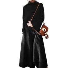 tobebery2018秋冬装名媛气质套装女宽松高领上衣半身裙时尚两件套