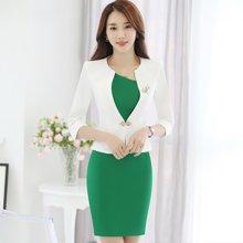 亿族 春夏装新款时尚小香风气质职业女装OL工作服连衣裙套装裙