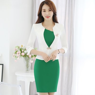 億族 春夏裝新款時尚小香風氣質職業女裝OL工作服連衣裙套裝裙