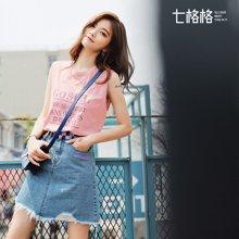 新品 七格格 网红两件套装短裙原宿风欧洲站运动韩版社会女夏2018新款时尚潮