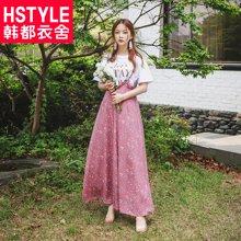 韩都衣舍2018夏装新款韩版女装雪纺阔腿时尚套装MR8905汩0605