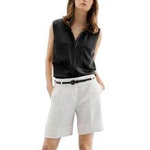 tobebery2019夏季新款女欧美气质无袖上衣短裤时尚套装洋气两件套