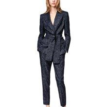 tobebery系带西装两件套潮女装2019春季新款时尚欧美ol女职业套装