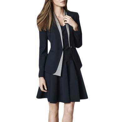 tobebery修身小西裝外套連衣裙兩件套2019秋季新款時尚職業套裝女