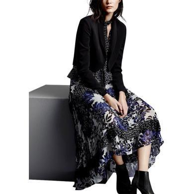 tobebery2020新款名媛氣質時尚兩件套春季女套裝小西裝短款外套印花連衣裙
